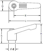 Ratchet Handle BK Line Drawing