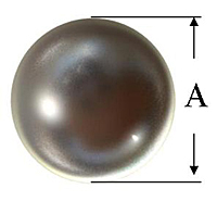 Metal Ball Knob Line Drawing