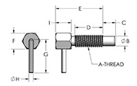 L-Handle Spring Loaded Plunger Pin