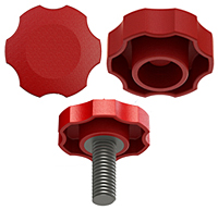 O3 Rosette Knob Press On Knob Group Red