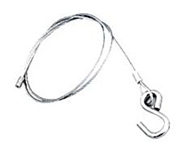 Wire Rope Lanyard w/ Hook