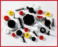 Press On Plastic Knobs with SHCS