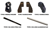 Type 1 & 2 Machine Handle Component Parts